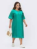 Свободное платье из прошвы с коротким рукавом, фото 9