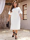Свободное платье из прошвы с коротким рукавом, фото 3