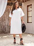 Свободное платье из прошвы с коротким рукавом, фото 2