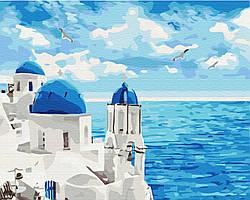 Картина по номерам рисование Brushme BS29448 Облака Санторини