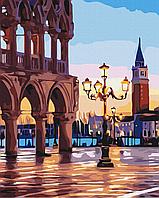 Картина по номерам рисование Brushme BS32268 Вечерняя площадь Венеции