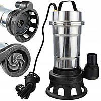 Насос фекальный погружной дренажный 2 кВт с измельчителем для грязной воды, фекалий, сливных ям WQS 2