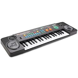Детский синтезатор Пианино с микрофоном на батарейке, работает от сети 220V 37 клавиш FM радио