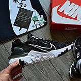 Nike React Element 87 X Off-White 'Black White', фото 3