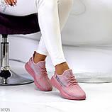 Жіночі кросівки текстильні YEEZY білі, фото 8