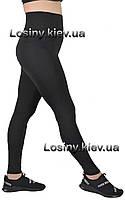 Жіночі лосини великих розмірів для спорту, спортивні жіночі для фітнесу батал Valeri 1203 з чорним, фото 1