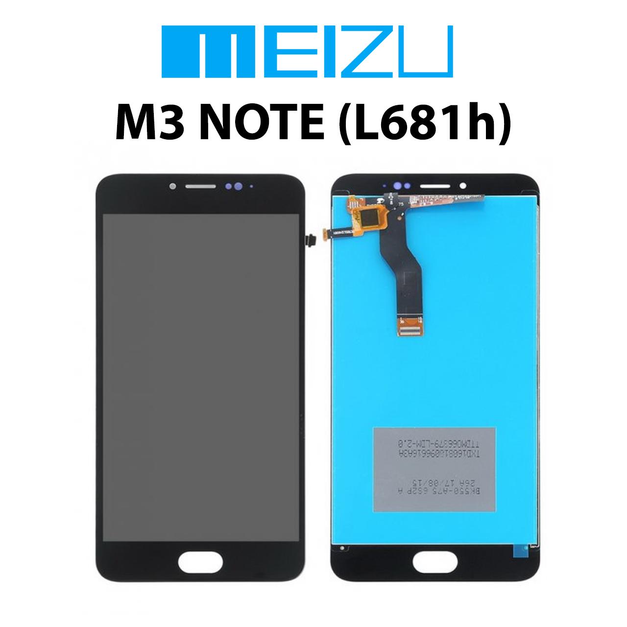 Дисплейный модуль TFT Meizu M3 Note (версия L681h) черный, дисплей/экран + тачскрин/сенсор мейзу м3 нот/ноут