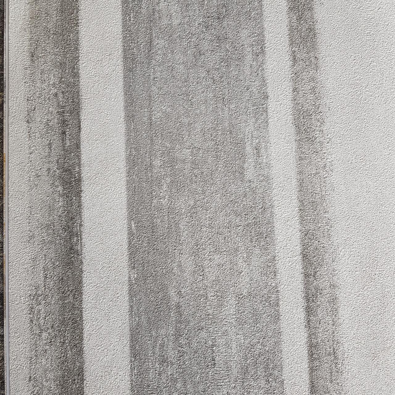 Обои виниловые на флизелине Rasch Linares 0.53х10 м полосы широкие размытые эффект потертости серые белые
