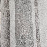 Обои виниловые на флизелине Rasch Linares 0.53х10 м полосы широкие размытые эффект потертости серые белые, фото 1