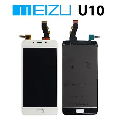 Дисплейний модуль TFT Meizu U10 білий, дисплей/екран + тачскрін/сенсор у10 ю10, фото 2