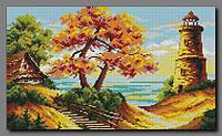"""Схема для полной вышивки бисером """"Осенний маяк"""""""