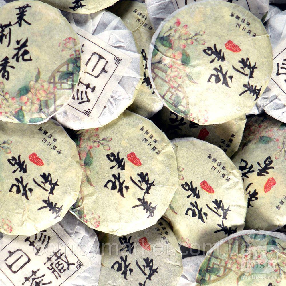 Білий пресований чай Жасминовий 50g