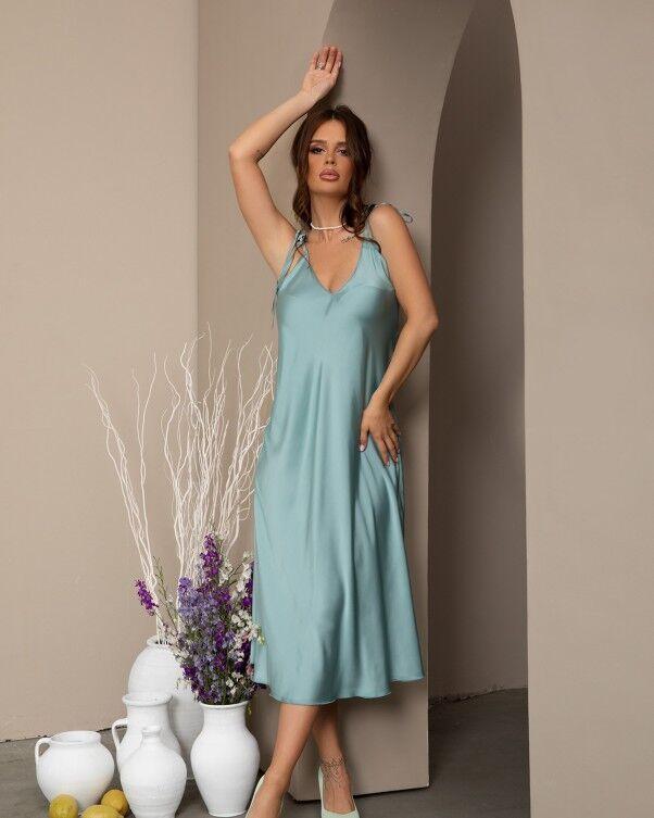 Красивое модное женское платье летнее  цвет: мятный, размер: XL, S, M, L