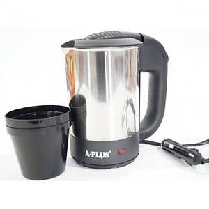 Автомобільний електричний чайник А-Плюс Ek-1700 0,5 л з чашками