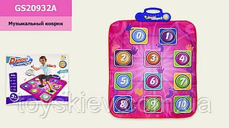 Муз.коврик GS20932A (24шт 2) Танцевальный, батар., р-р игрушки – 71*93 см, в коробке 39*6*32см