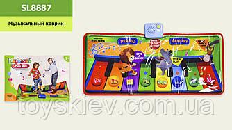 Муз.коврик SL8887 (24шт)Танцевальный, батар., р-р игрушки – 81*37 см,  в кор.41*5,5*29см