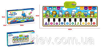 Муз.коврик 757-01B (72шт 2)Танцевальный, батар., изучение муз.инструмент, клавиатуры,р-р игрушки – 8