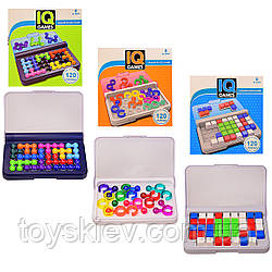 "Игра-головоломка""IQ games"" YF-207 208 209 (96шт 2)3 вида,от простого к сложному,развитие логики,в ко"