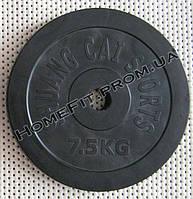 Блин обрезиненный 7,5кг (30мм)
