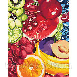"""КНО2937 Набір для розпису по номерах. Квiти """"Солодкі фрукти"""" 40*50см"""