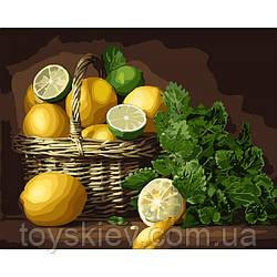 """КНО5589 Набір для розпису по номерах """"Лимонний настрій"""" 40*50см"""