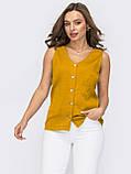 Блузка без рукавів на застібці гудзики ЛІТО, фото 3