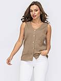 Блузка без рукавів на застібці гудзики ЛІТО, фото 5