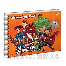 Альбом для рисования 20 л, A4, спираль, YES, гибрид. +УФ ЛАК / MARVEL Avengers
