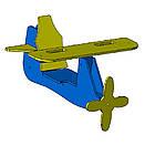 """Гойдалки дитячі на ланцюгах """"Літак""""., фото 8"""