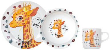 Детский набор столовой посуды Limited Edition Pretty Giraffe из 3 предметов (C389)