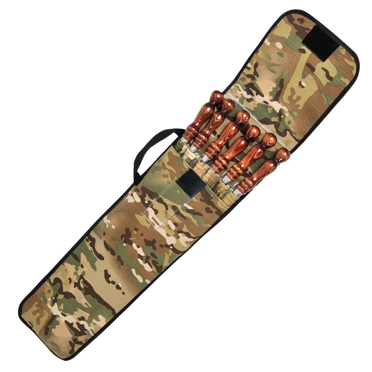 Набор шампуров ПикничОК с деревянной ручкой 6 шт плоский 700х10х3.0мм