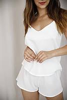 Женская пижама из муслина белого цвета
