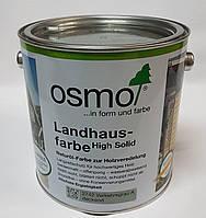 Непрозора фарба для зовнішніх робіт OSMO LANDHAUSFARBE 2742 сірий туман, фото 2