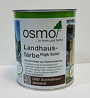 Непрозора фарба для зовнішніх робіт OSMO LANDHAUSFARBE 2607 темно-коричнева, фото 2