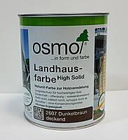 Непрозрачная краска для наружных работ OSMO LANDHAUSFARBE 2607 темно-коричневая, фото 2