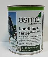 Непрозрачная краска для наружных работ OSMO LANDHAUSFARBE 2404 темно-зеленая, фото 2