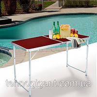 Стол для пикника с 4 стульями Folding Table, стол туристический складной, 120х60х55-70 см