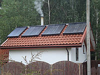 Монтаж солнечных водонагревателей , гелио коллекторов