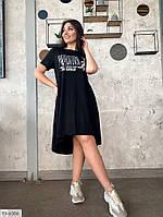 Платье  женское летнее по колено удлиненное сзади большие размеры батал 50-56 арт. р15179