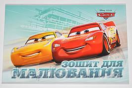 """Альбом для рисования 20 л, A4, обл. ЛАК, скоба """"Тетрада"""" / Disney Cars"""