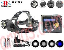 Налобний ліхтар акумуляторний Bailong BL-2199