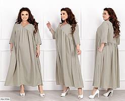 Длинное летнее стильное платье свободного кроя больших размеров р-ры 46-64 арт.  197