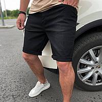 Шорты джинсовые мужские чёрные рваные брендовые премиум копия реплика