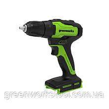 Безщітковий дриль-шуруповерт акумуляторний Greenworks GD24DD35 без АКБ і ЗП