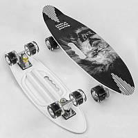 "Скейт A 45220 (8) ""Best Board"" доска=60см, колёса PU, СВЕТЯТСЯ, d=6см"