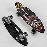 "Скейт A 51722 (8) ""Best Board"" доска=60см, колёса PU, СВЕТЯТСЯ, d=6см"