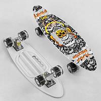 "Скейт A 71090 (8) ""Best Board"" доска=60см, колёса PU, СВЕТЯТСЯ, d=6см"