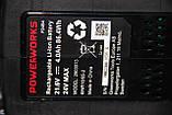 Дрель-шуруповерт ударная аккумуляторная Powerworks P24CDK4 / Greenworks G24CDK4 с АКБ 4 Ач и ЗУ, фото 9
