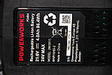 Дриль-шуруповерт ударний акумуляторний Powerworks P24CDK4 / Greenworks G24CDK4 з АКБ 4 Ач і ЗУ, фото 9