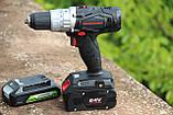 Дрель-шуруповерт ударная аккумуляторная Powerworks P24CDK4 / Greenworks G24CDK4 с АКБ 4 Ач и ЗУ, фото 2